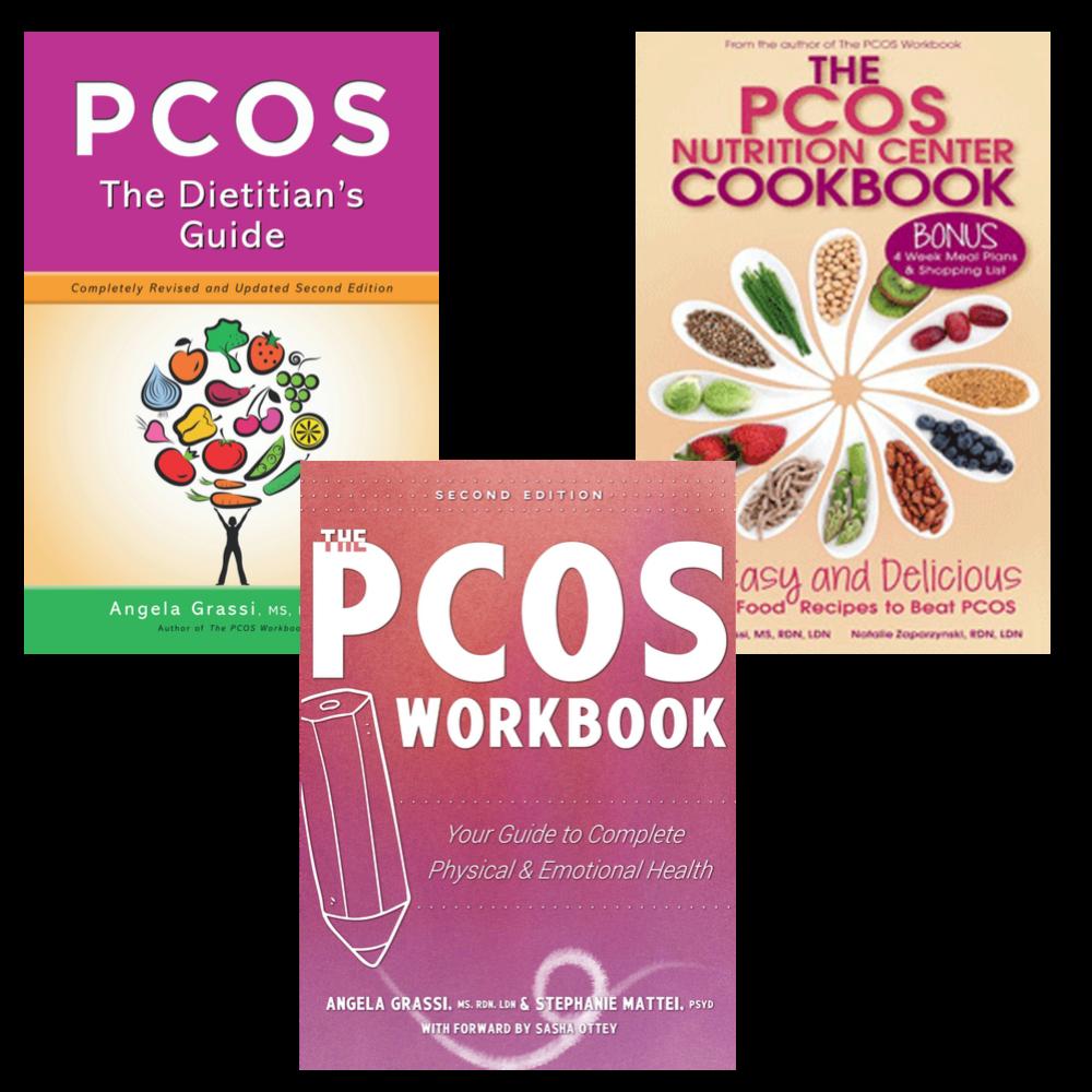 pcos workbook, pcos cookbook, pcos dietitian's guide