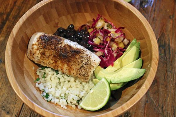 "Fish Taco Cauliflower ""Rice Bowl"